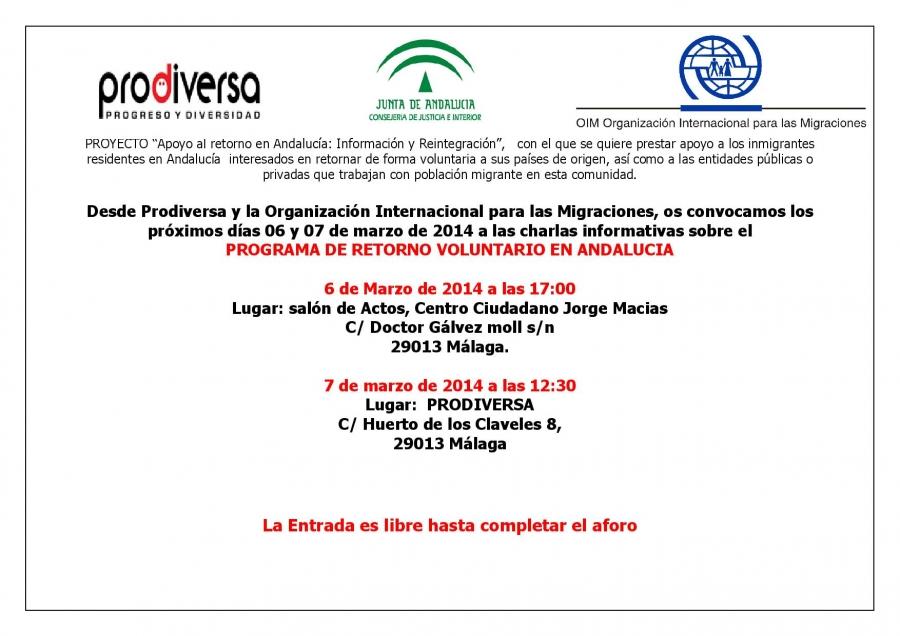Apoyo al retorno en Andalucía: Información y Reintegro