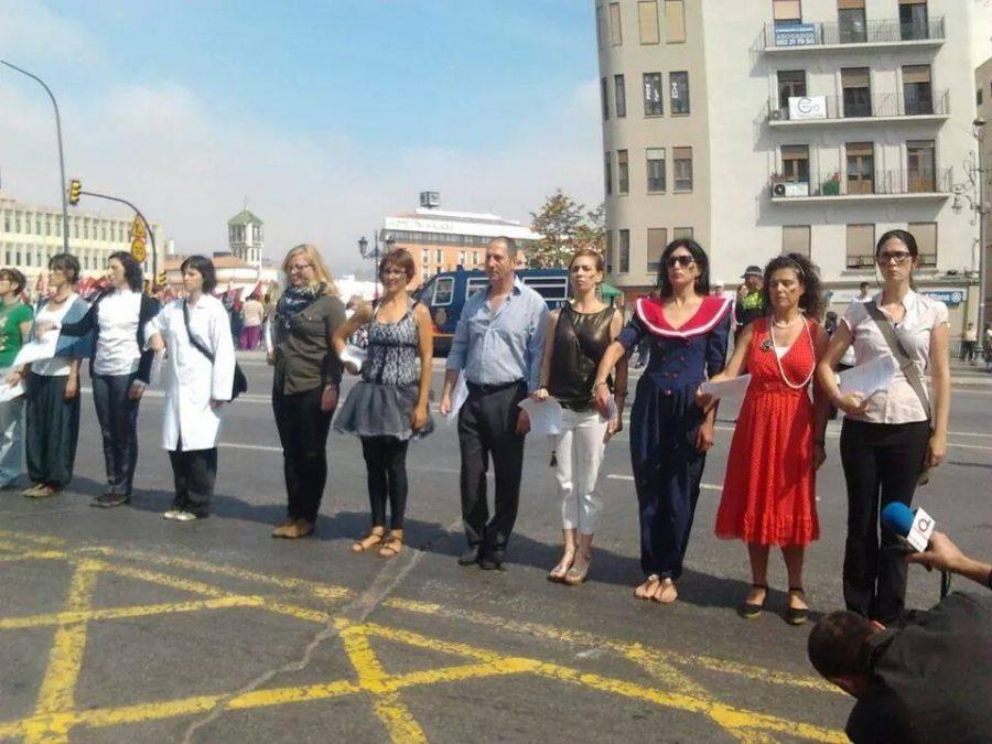Ventila2 otra vez en el 1 de Mayo de Málaga con su artivismo