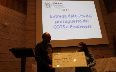El 0,7 del Colegio de Trabajo Social de Málaga para PRODIVERSA este 2017